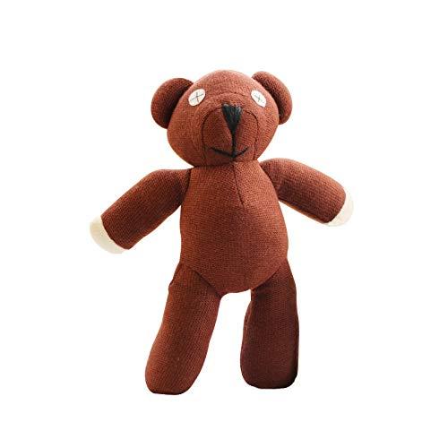 Mr Plush Bean Bear Teddy (Olwen Shop Teddy Bear&Panda Toys - 1pc 23cm Mr Bean Teddy Bear Animal Stuffed Plush Toy Soft Cartoon Brown Figure Doll Child Kids Gift Toys Birthday Gift 1 PCs)