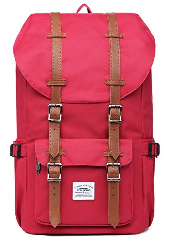 "KAUKKO Laptop Outdoor Backpack, Travel Hiking& Camping Rucksack Pack, Casual Large College School Daypack, Shoulder Book Bags Back Fits 15"" Laptop & Tablets"