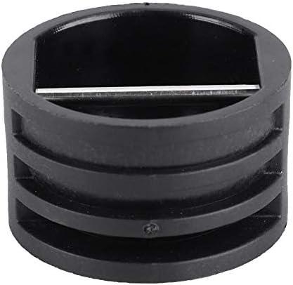 SolUptanisu サーフボードリーシュプラグカップ ポリ塩化ビニル素材 2.5cm サーフボードリーシュプラグロープカップ サーフボードサーフィン用リペアアクセサリー ブラック