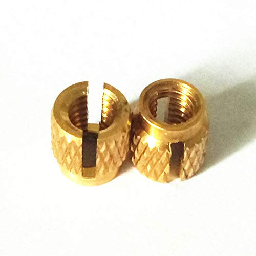 Press-in Threaded Inserts, 2-56 Int. THD .156 Int. Lg, Diamond knurling(Pack of 50)