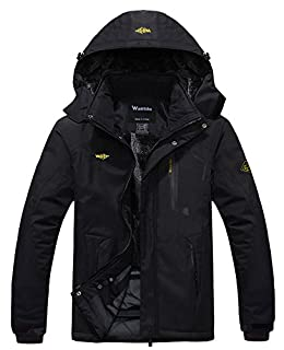 Wantdo Men's Waterproof Mountain Jacket Fleece Windproof Ski Jacket US XL Black XL (B00OA1B32O) | Amazon price tracker / tracking, Amazon price history charts, Amazon price watches, Amazon price drop alerts