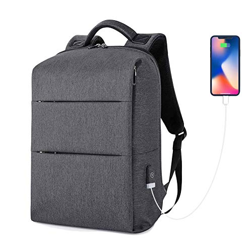 Laptop Backpack for Business Travel Fit 15 inch MacBook Stylish Multi Compartments with USB Charging Port Anti Theft Rain Resistance Comfortable Padded Straps for Men Women -