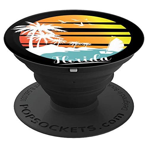 Florida State Shirt Sunshine Retro Tropical Summer Beach PopSockets Grip and Stand for Phones and Tablets