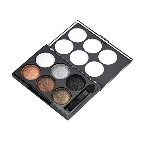 Hot Selling Luxury Silk Satin Shine 6 Color Lasting Profesional Pearl Eye Shadow Smoke Makeup Nude Makeup Earth Color Cosmetics A