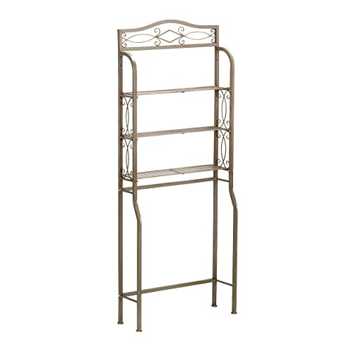 (Reflections 3 Fixed Shelving Bath Unit - Over the Toilet Rack Storage - Silver & Gray)