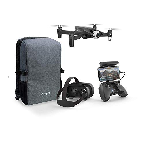 Parrot Anafi – FPV Drone Set – Lightweight and Foldable Quadcopter – FPV Cockpitglasses 3 for Immersive Flights – Full HD Live Streaming – Comprehensive and Compact Set with Backpack