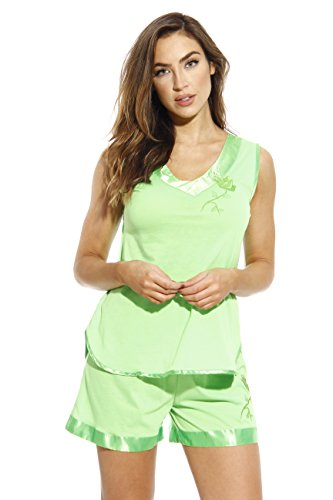1531-LIM-XL Dreamcrest Short Sets/Women Sleepwear/Womans Pajamas Lime