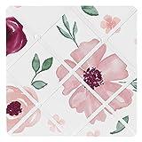 Sweet Jojo Designs Burgundy Watercolor Floral