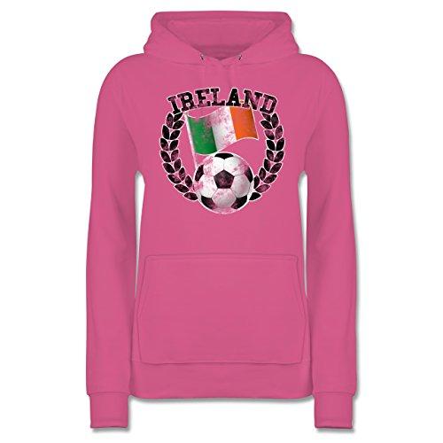 Vintage Flagge Rosa Damen Hoodie - Ireland Shirtracer amp; Fußball