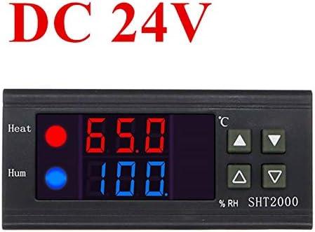 SNOWINSPRING SHT2000 DC24V Pantalla Digital Inteligente de Temperatura Pantalla LCD Controlador de Humedad Monitor de Temperatura y Humedad