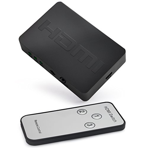 iKKEGOL 3 Port HDMI Switch, 3 In 1 Out Full HD 1080p,3D with IR Remote by iKKEGOL (Image #1)