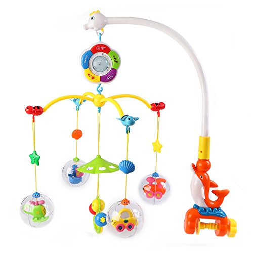 Music Mobile Happytime Baby Rattle Crib Rotate Bed Bell w...