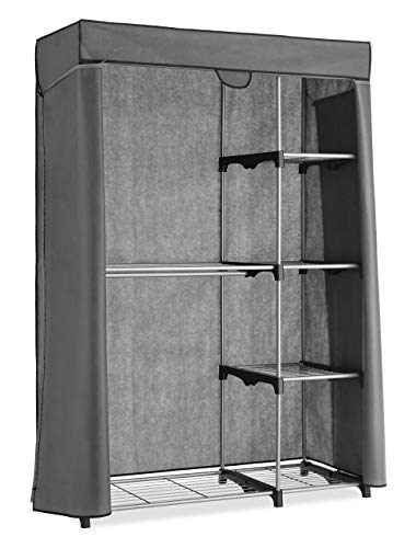 Whitmor Deluxe Utility Closet – 5 Extra Strong Shelves – Removable Cover (Renewed)