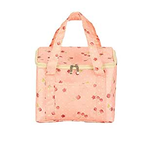Caja de almacenaje, Clearance. amydong portátil bolsa para el almuerzo para mujer adultos niños con aislamiento frío lienzo manta para Picnic, diseño a rayas funda de transporte bolsa
