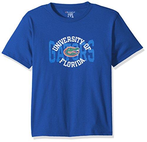 - Champion NCAA Youth Boys Shirt 100% Cotton Tagless Tee, Florida Gators, Large