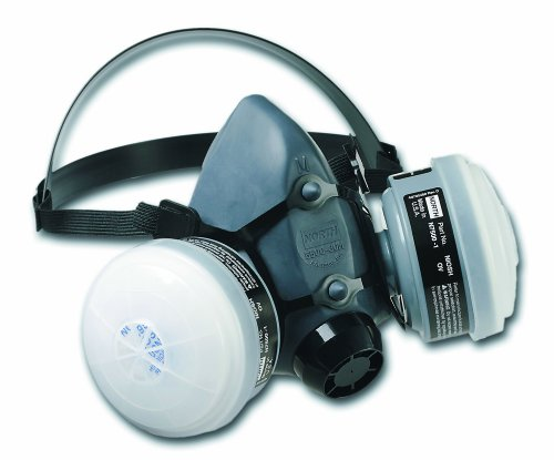 Honeywell Paint Spray & Pesticide Reusable Half Mask OV/R95 Respirator Convenience Pack, Medium (RWS-54027)