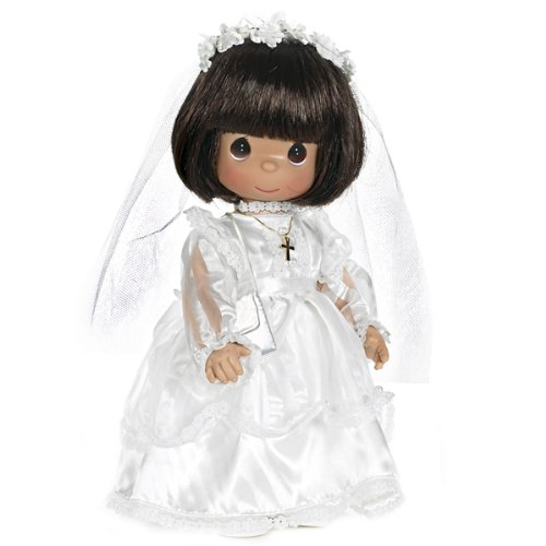 The Doll Maker Precious Moments Dolls, Linda Rick, My First Communion, Brunette, 12 inch Doll from The Doll Maker