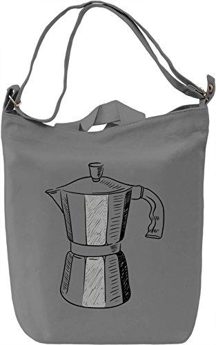 Coffee pot Borsa Giornaliera Canvas Canvas Day Bag| 100% Premium Cotton Canvas| DTG Printing|