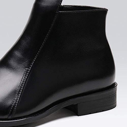 Scarpe Pelle Stivali 38 brown da Creare Europeo Red per Stile di di Lavoro Uomo Pura Lavoro Set da da Scarpe Scarpe Alte Pelle Scarpe qxgEwpfAA6