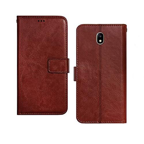 Pinaaki Enterprises Flip for Samsung Galaxy J7 Pro  Faux Leather_Brown