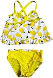 eKooBee Infant Baby Girls Swimwear Two Piece Lemon Swimsuit Tankini Set