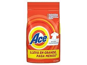 Ace Acción Instantánea Detergente En Polvo 6 Kg para Ropa Blanca y de Color