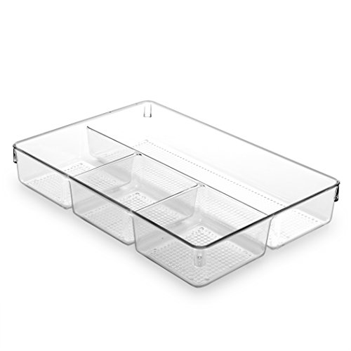 BINO Multi-Purpose Plastic Drawer Organizer, 4 Section
