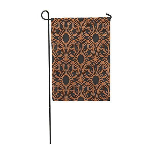 Semtomn Garden Flag 12x18 Inches Print On Two Side Polyester Laser Cutting Rising Sun Panel Jigsaw Die Cut Lacy Cutout Silhouette Stencil Home Yard Farm Fade Resistant Outdoor House Decor Flag ()