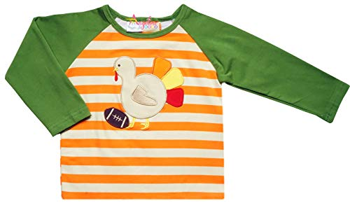 (Baby Boys Thanksgiving's Day Football Turkey Top Raglan Tshirt 5/L)