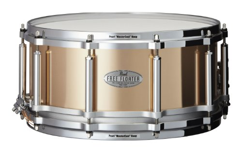 Pearl FTPB1465 14 x 6.5 Inches Free Floater Snare Drum - Phosphor Bronze
