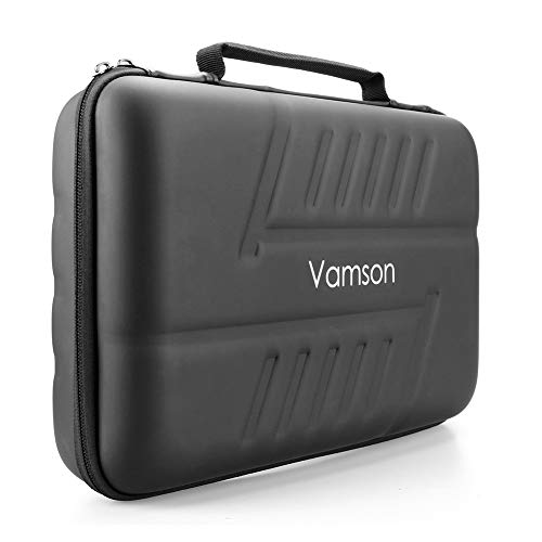 Vamson Large Waterproof Carrying Case PU for Gopro Hero 7/6/5/4 for DJI OSMO Action Camera for AKASO/YI Hard Shell Protective Outdoor Travel Case AVP808