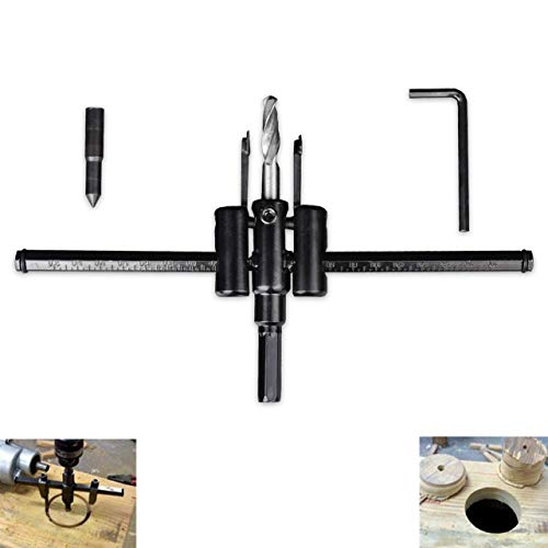 HOEN Standard Adjustable Circle Cutter, Adjustable 1-Inch to 7.8-Inches,Heavy Duty Wood Hole Saw Circle Cutter, Wood Working Twist Hole DIY Tools Cutting Diameter 30mm-200mm