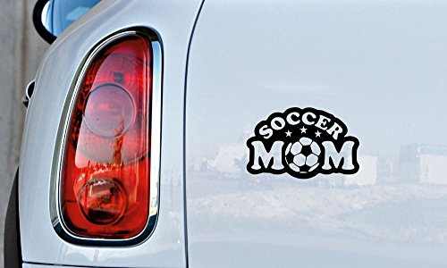 Soccer Mom Star Player Car Vinyl Sticker Decal Bumper Sticker for Auto Cars Trucks Windshield Custom Walls Windows Ipad Macbook Laptop and More (BLACK)