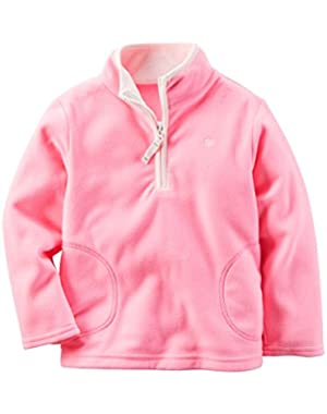 Baby Girls' Half-Zip Fleece Pullover