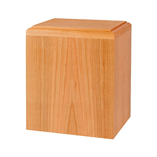 Wood Cremation Urn - Natural Cherry Madison