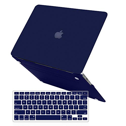 - MacBook Air 13 Inch Case (Release 2010-2017 Older Version),iCasso Rubber Coated Soft Touch Hard Case with Keyboard Cover Only Compatible MacBook Air 13 Inch (Model:A1369/A1466), Navy Blue