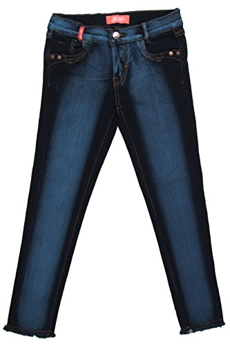 8H120S - Girls' Stretch 5 Pockets Washed Premium Skinny Jeans in Blue Size 14 (MLG1)