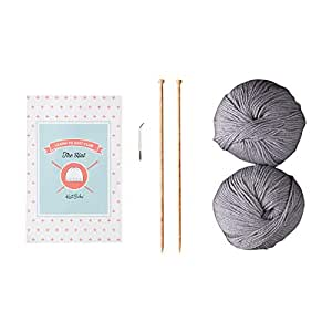 Learn to Knit Club: The Hat - Beginner Knitting Kit (Silver)