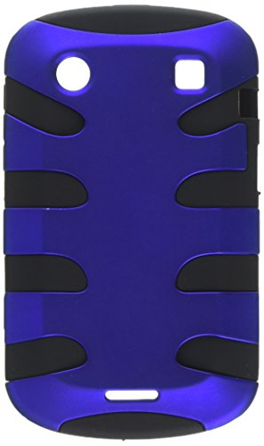 MyBat BB9930HPCSK303NP Titanium Fishbone Protective Case for BlackBerry Bold 9930-1 Pack - Retail Packaging - Dark Blue/Black