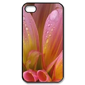 IPhone 4/4s Case Pink Petals, Dustin, {Black}