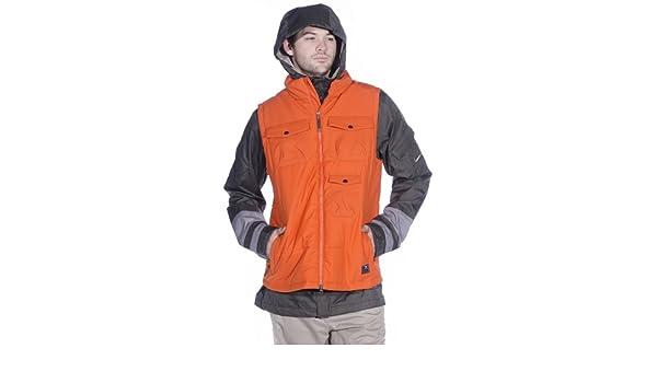 e9add13fa20c Amazon.com  Nike SB Men s 3-in-1 Bellevue Jacket  NEWSPRINT-CANYONGREY-URBANORANGE S  Clothing