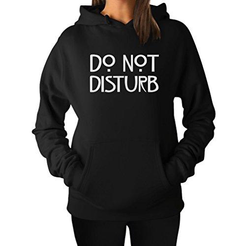 TeeStars - Do Not Disturb Women Hoodie XX-Large Black