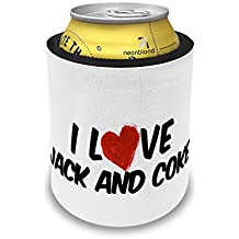 Slap Can Coolers I Love Jack and Coke Cocktail Insulator Sleeve Covers Neonblond
