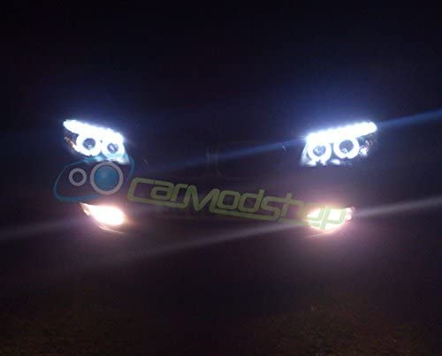 Junyan PHL6027 Black Angel Eye DRL Projector Headlights DRL