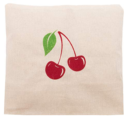 21x21 cm natural removable cotton cover Zollner24 cherry pit pillow approx