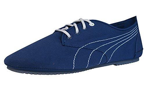 Puma Geselle Canvas Womens Casual Trainers / Shoes - Denim Blue 5azxeib