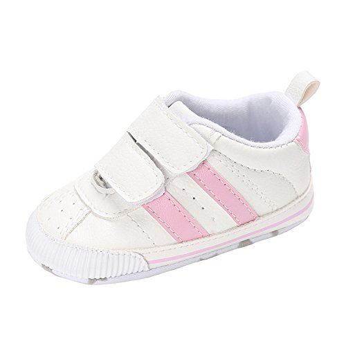 Pink First Walkers (Annnowl Baby Shoes Soft Sole Sneakes 0-18 Months (6-12 Months, Pink))