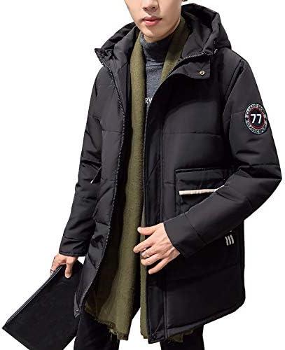ダウンジャケット メンズ ロング 中綿 ジャケット 防寒 コート カジュアル アウター 大きいサイズ フード付き ウルトラライト 冬