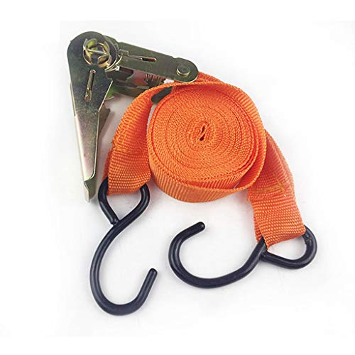 Ratchet Strap, LtrottedJ 25mm x 4.5m Polyester Double J-Hooks Ratchet Tie Down Cargo Straps For Car
