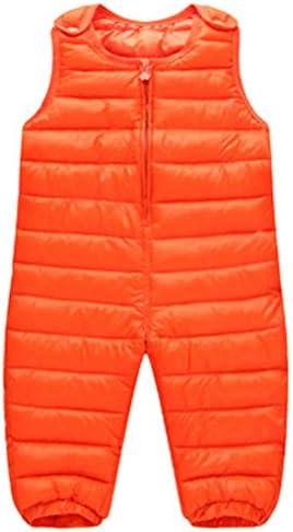 La vogue Kids Boys Girls Winter Snow Bib Pants Thick Down Padded Windproof Zipper Snow Bib Ski Snowsuit Trousers